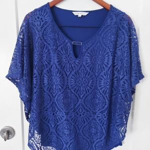 Cleo lace overlay top
